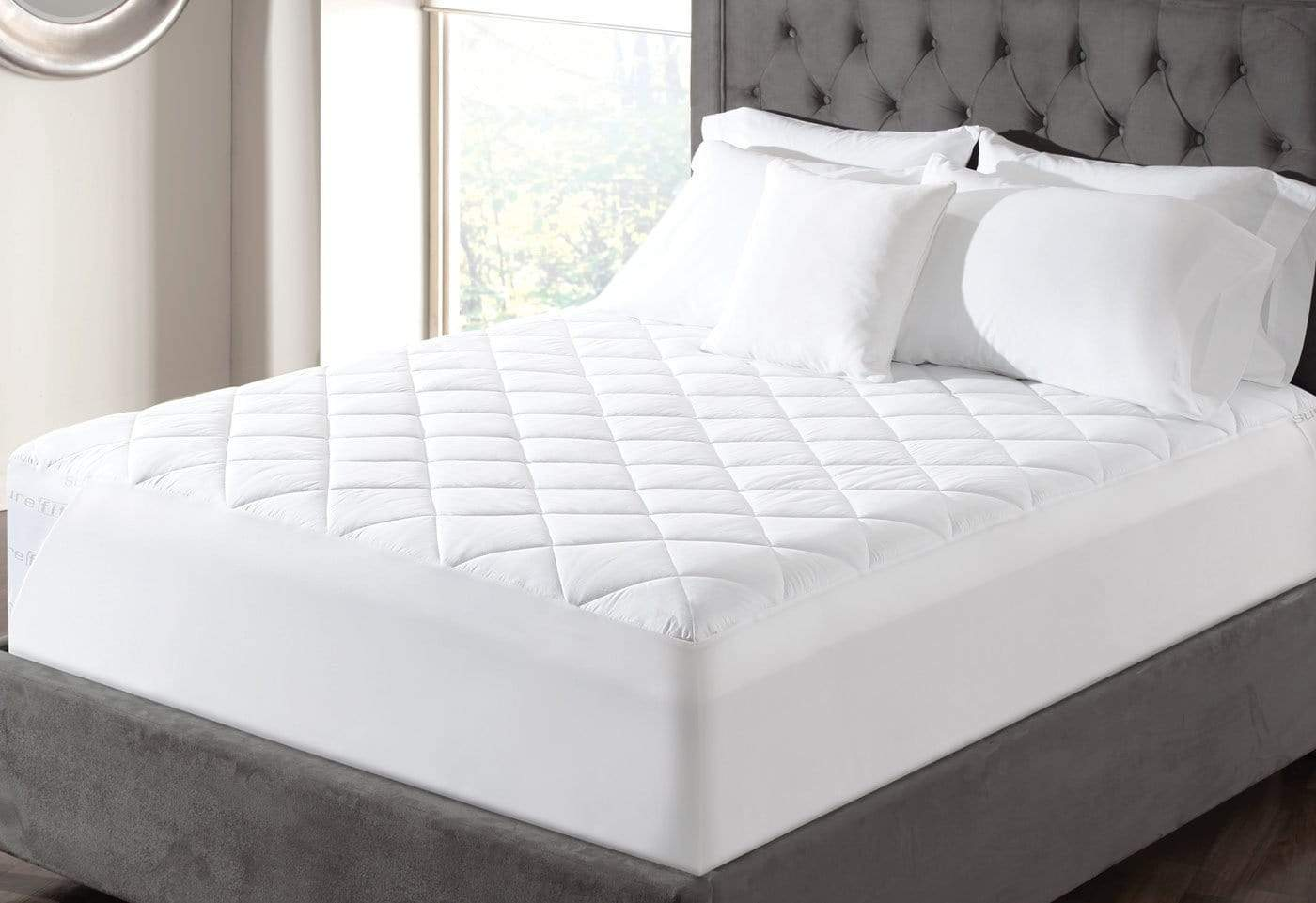 Essential Memory Foam Mattress Pad - California King / White