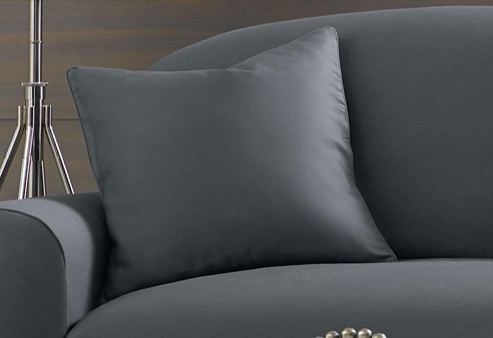 Essential Twill 20 Inch Square Pillow Cover - 20x20 / Smoke Gray