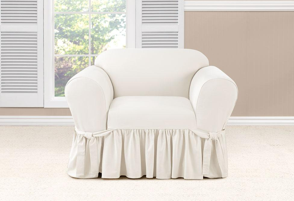 Essential Twill  One Piece Chair Slipcover