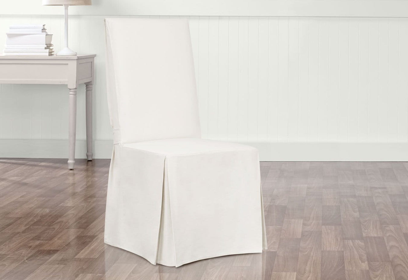 Essential Twill Scothgard Long Dining Chair Slipcover