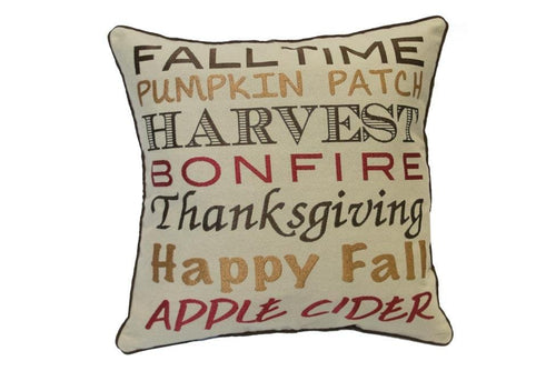 Fall Time 20 Inch Square Decorative Pillow