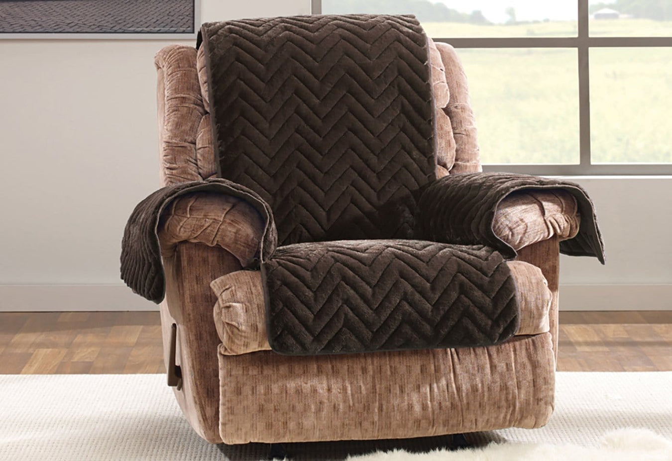 Amazing Faux Fur Chevron Recliner Furniture Cover Recliner Covers Gmtry Best Dining Table And Chair Ideas Images Gmtryco