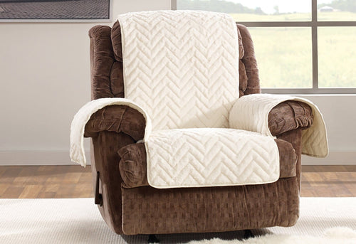 Faux Fur Chevron Recliner Furniture Cover