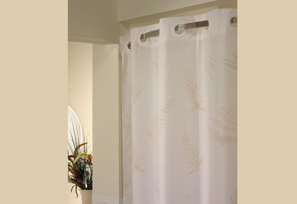 Hookless Fern Print Shower Curtain
