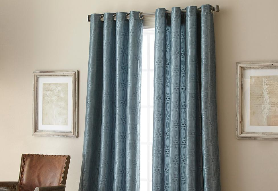Fresno Grommet Top Window Curtain Panel Blue