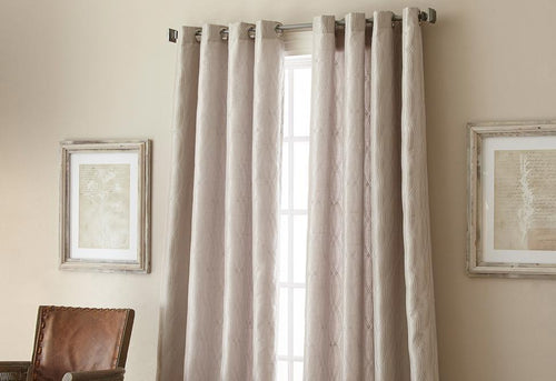 Fresno Grommet Top Window Curtain Panel Platinum