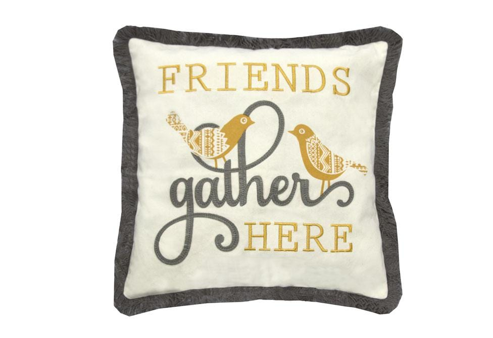Friends Gather  18 inch square Decorative Pillow