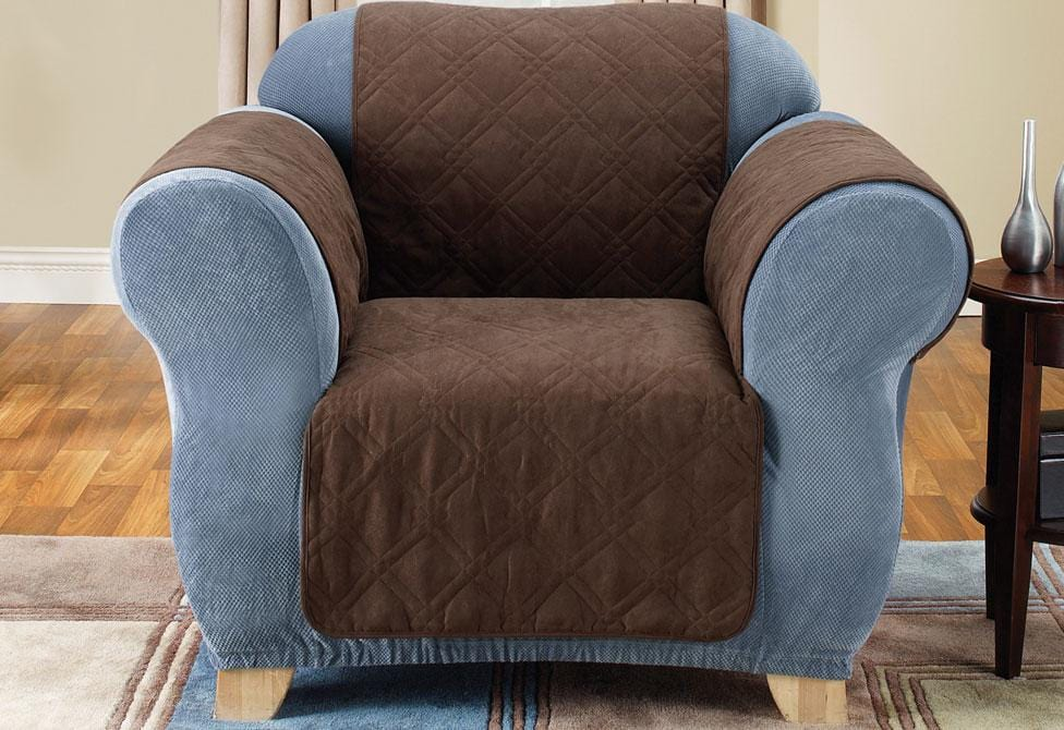 Quilted Chair Furniture Cover Pet Furniture Cover Machine Washable - Chair / Chocolate
