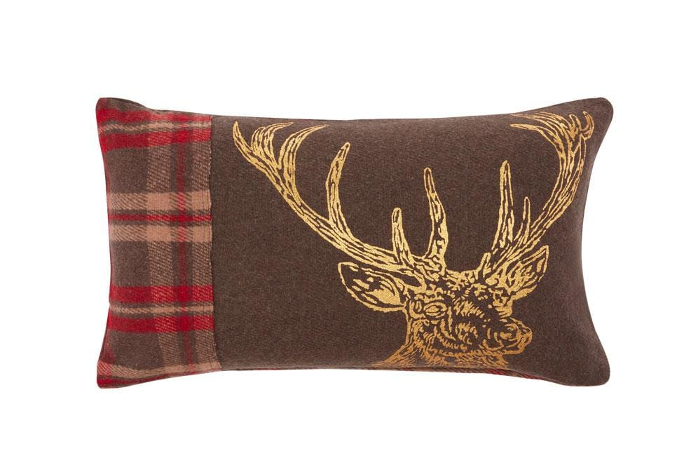 Gilt Moose 14 Inch X 24 Inch Decorative Pillow