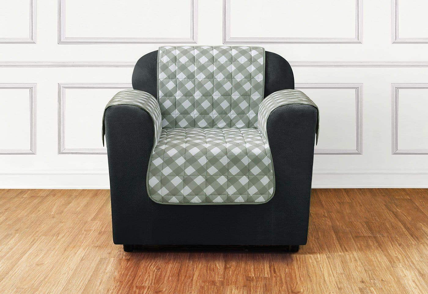 Furniture Flair Chair Furniture Cover 100% Polyester Pet Furniture Cover Machine Washable - Chair / Gingham Plaid