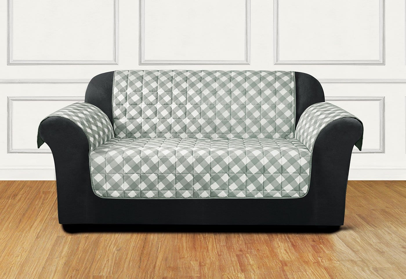Furniture Flair Loveseat Furniture Cover 100% Polyester Pet Furniture Cover Machine Washable - Loveseat / Gingham Plaid