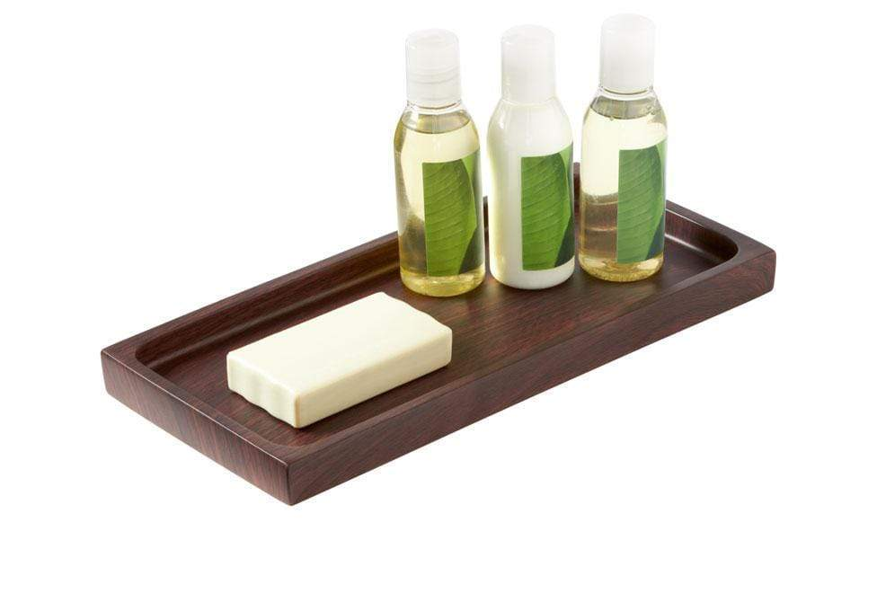 Hamilton Collection Bathroom Amenity Tray - Wood Grain