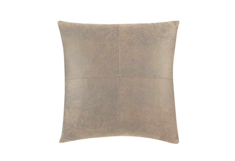 Ultimate Stretch Leather 20 Inch Square Pillow Cover Surefit