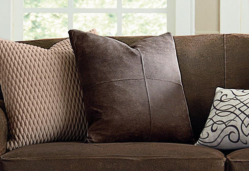 Ultimate Stretch Leather 20 Inch Square Coordinating Pillow
