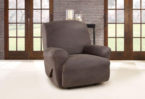 Ultimate Stretch Leather One Piece Recliner Slipcover