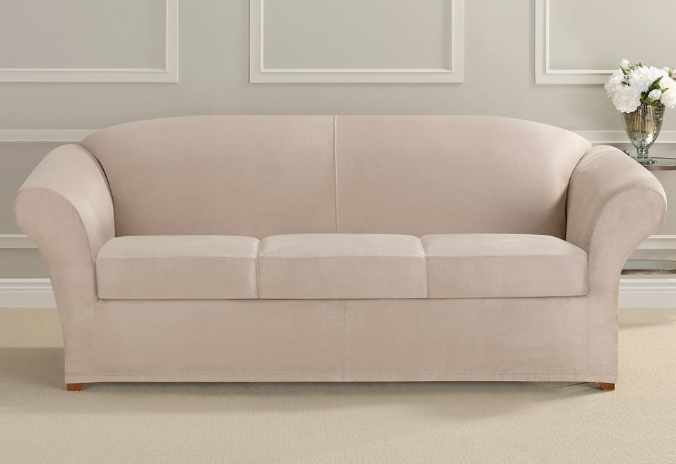 Ultimate Stretch Suede Four Piece Sofa Slipcover | SureFit