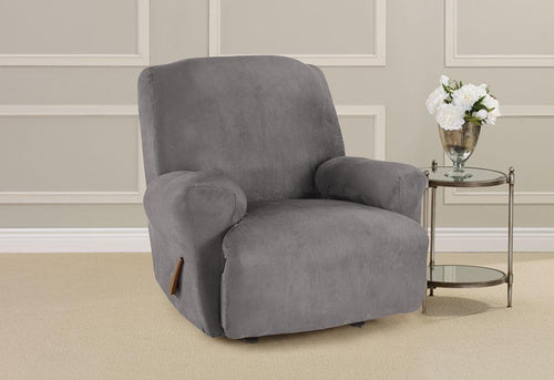 Ultimate Heavyweight Stretch Suede One Piece Recliner Slipcover
