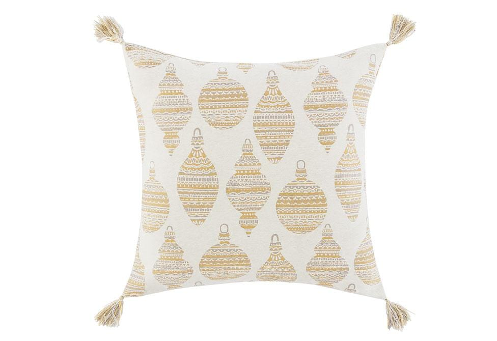 Holiday Ornaments 26 Inch Square Decorative Pillow