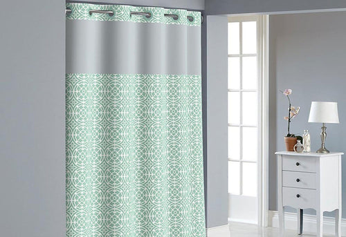 Hookless Medallion Print Shower Curtain