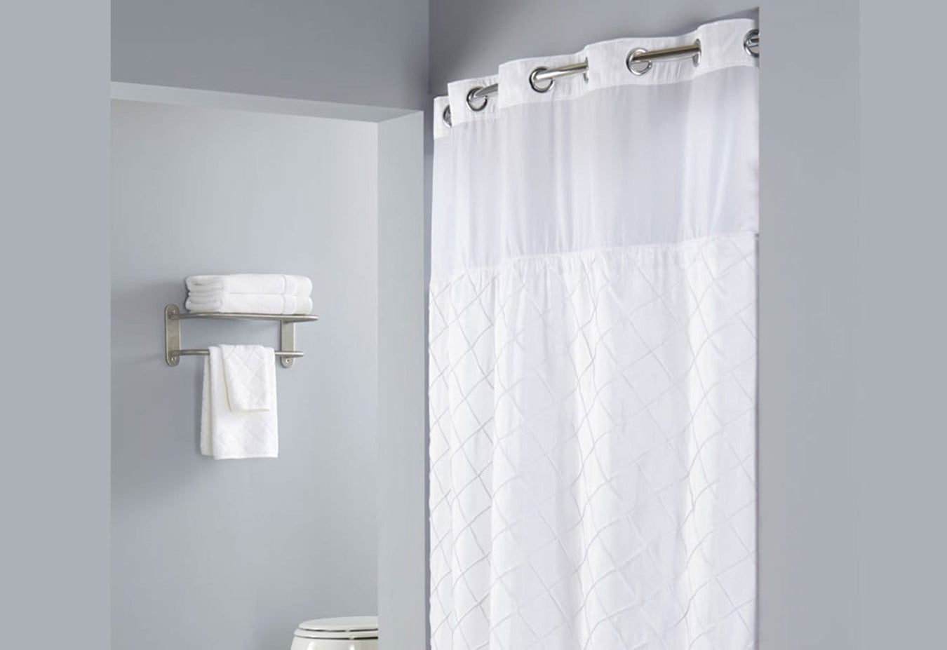 Hookless Pintuck Shower Curtain