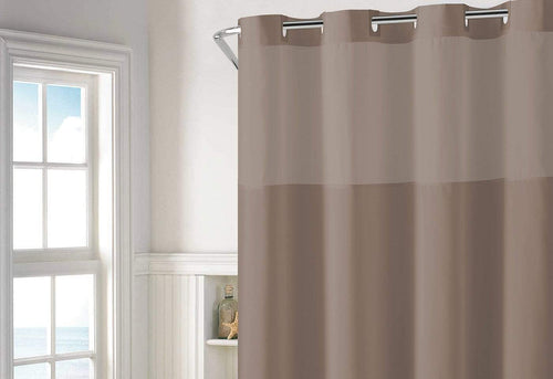 Hookless Plain Weave 55 Shower Curtain