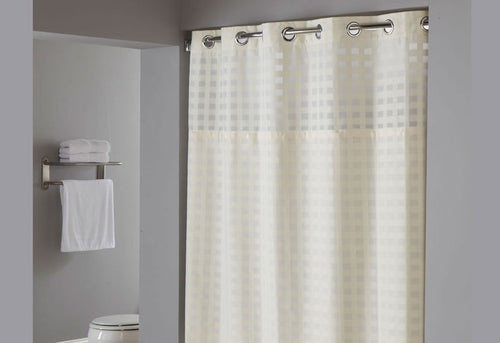Shimmy Square Hookless Shower Curtain    Shower Curtain