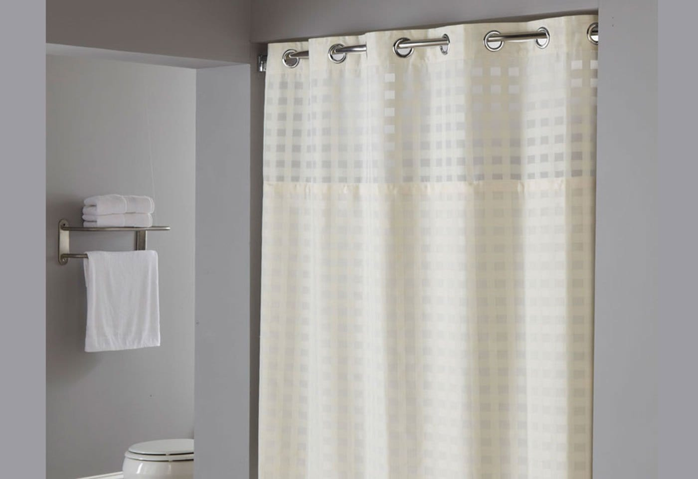 Shimmy Square Hookless Shower Curtain