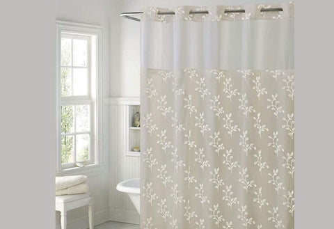 Hookless Spring Leaves Shower Curtain