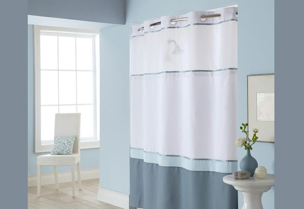 Hookless 174 Windsor Color Block Shower Curtain Surefit