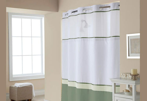 Hookless Windsor Color Block Shower Curtain