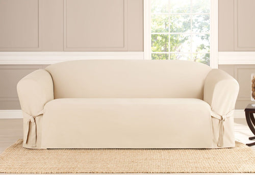 Heavyweight Cotton Duck One Piece Sofa Slipcover