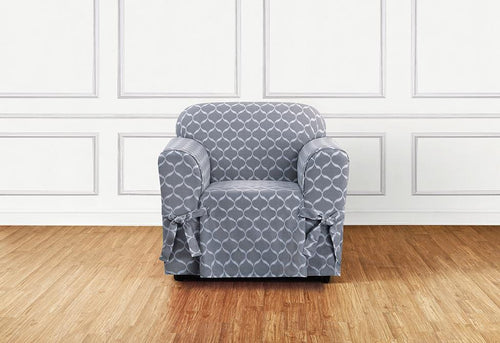 Ikat Tile One Piece Chair Slipcover