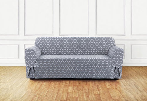 Ikat Tile One Piece Sofa Slipcover