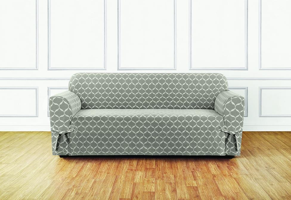 Good Ikat Tile One Piece Sofa Slipcover