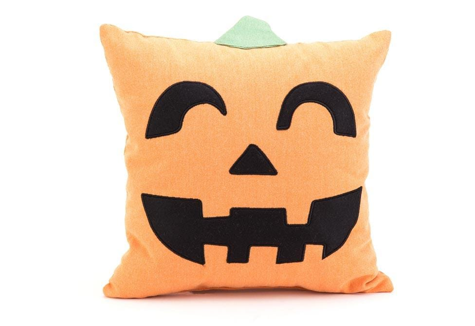 Jack O Lantern 14 Inch Square Decorative Pillow