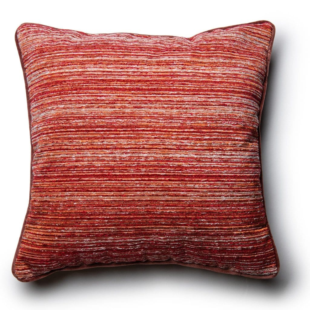 Kimbra Striped Pillow - Red