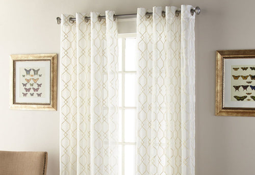 Kings Gate Sheer Window Panel Gold