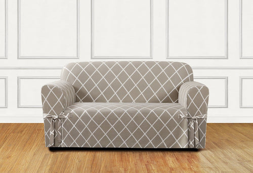 Lattice One Piece Loveseat Slipcover
