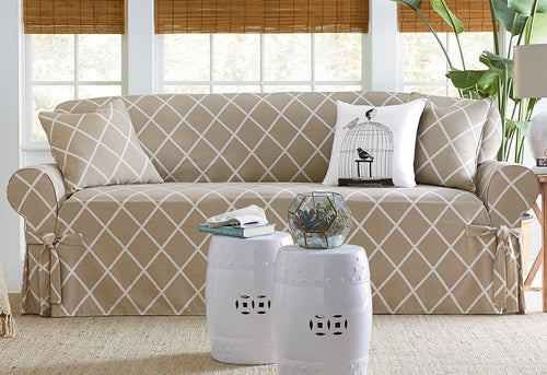 Lattice One Piece Sofa Slipcover