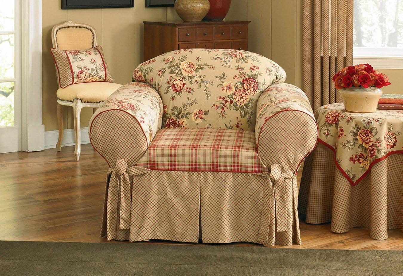 Lexington One Piece Chair Slipcover