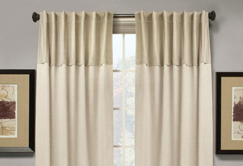 Liszt Velvet Accented Window Curtains