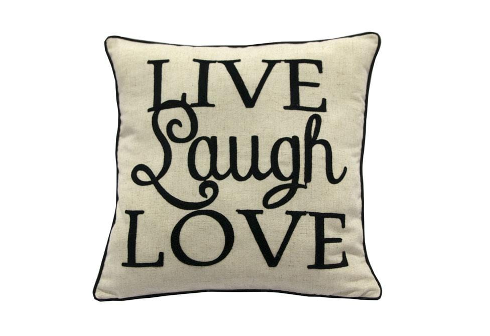 Live Love Laugh   18 inch square Decorative Pillow