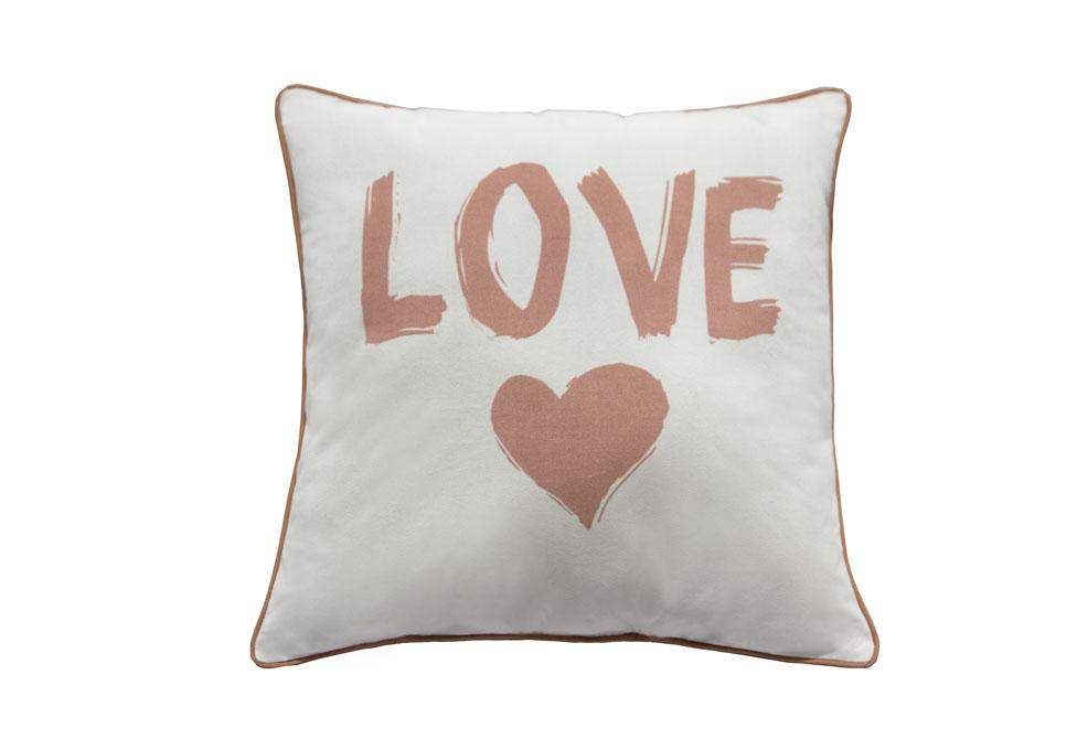 Love Heart Pink   18 inch square Decorative Pillow