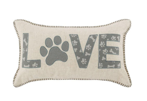 Love Paw 14 Inch X 24 Inch Decorative Pillow