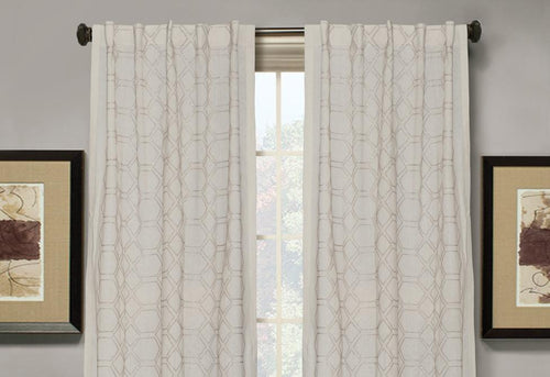 Lowry Metallic Embroidered Window Curtains