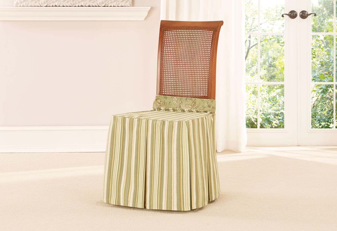 Lucky Stripe by Waverly Dining Seat Skirt