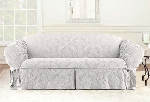 Matelasse Damask One Piece Sofa slipcover