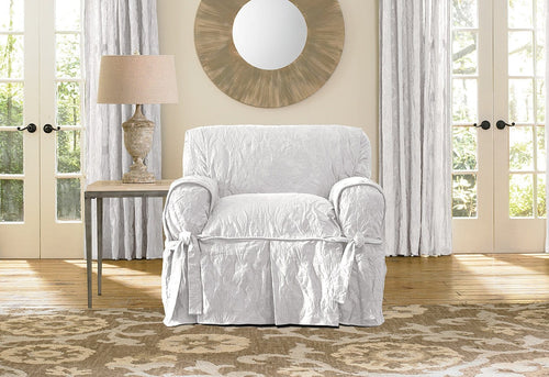 Matelasse Damask One Piece Chair Slipcover