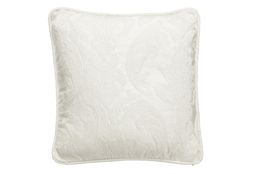 Matelasse Damask 18 Inch Square Pillow Cover