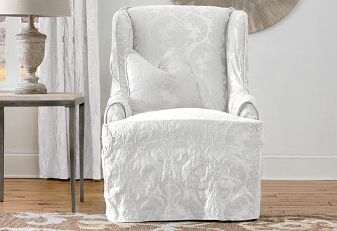 Slipcovers For Wingback Chairs | Wingback Chair Covers ...